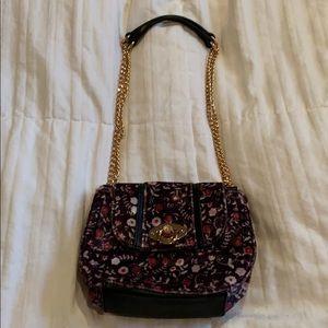 Lauren Conrad floral velvet purse